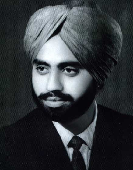 Jagjit Singh with his turban and beard as a Sikh