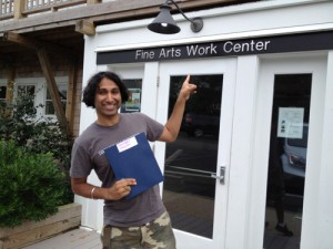Navdeep Singh Dhillon at the Fine Arts Work Center in Provincetown, Cape Cod