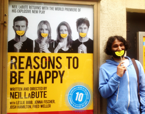 "Theater Review: Notes On Neil Labute's ""Reasons to be Happy"""